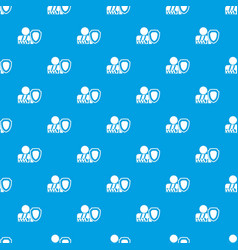 Oken arm and safety shield pattern seamless blue vector