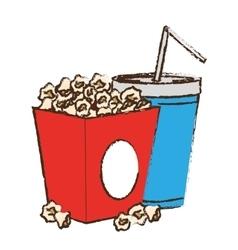 pop corn box vector image