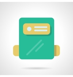 Power counter flat color design icon vector