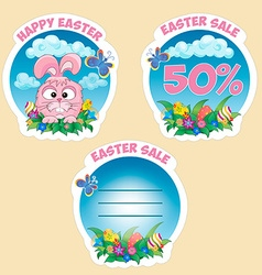Price sticker with text Easter sale vector image