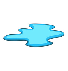 Puddle of water icon cartoon style vector