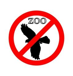 Raptor in zoo prohibited vector
