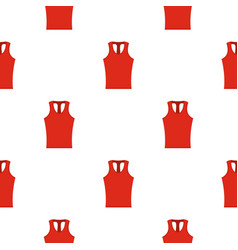Red sleeveless shirt pattern seamless vector