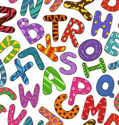 Seamless Pattern With Colorful Children Alphabet vector image
