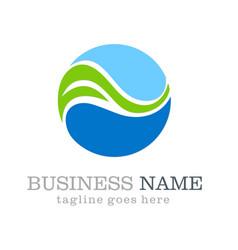 sphere ecology logo design vector image