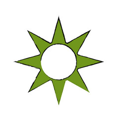 sun energy symbol vector image vector image