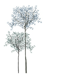 trees background vector image