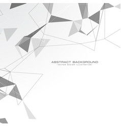 White abstract triangles background vector