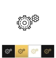 Cogwheels symbol or cog gears line icon vector