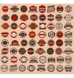 Racing badges - vintage style big set vector