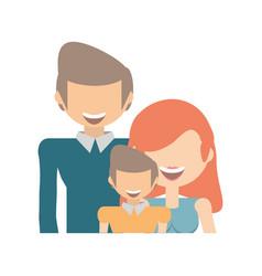 Happy family love members vector