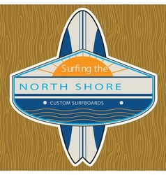 Surfer sticker north shore vector