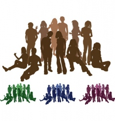 Friends silhouettes vector