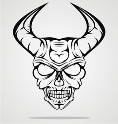 Demon head vector