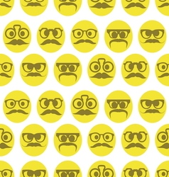 Hipster smiley seamless pattern1 vector