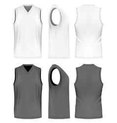 Men sport training sleeveless t-shirt vector