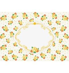 Yellow wedding roses vector