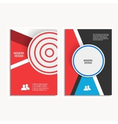 Design cover design brochure in a4 size vector