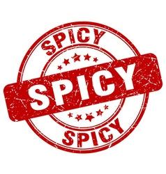 Spicy red grunge round vintage rubber stamp vector