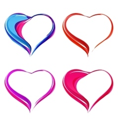Colorful abstract hearts vector