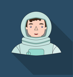 astronaut icon in flat style isolated on white vector image