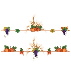Autumnal borders with pumpkins vector