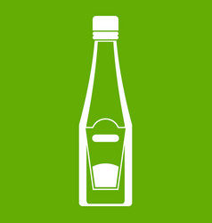 bottle of ketchup icon green vector image vector image