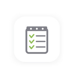 checklist icon completed tasks vector image