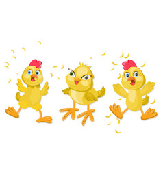 Chicken funny cartoon vector
