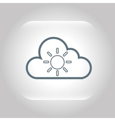 climate cloud weather nature vector image vector image