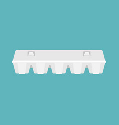 close egg box in flat design vector image vector image