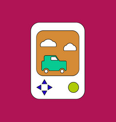 flat icon design collection portable game vector image