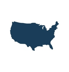 Flat icon on white background map of america vector