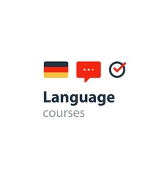German as a second language fluent speaking vector