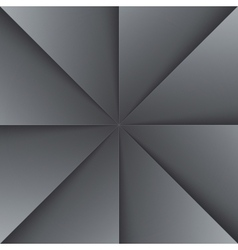Gray and black folded paper triangles background vector