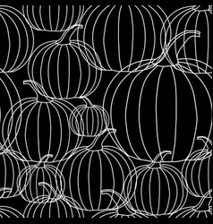 Halloween background - white line pumpkin on vector