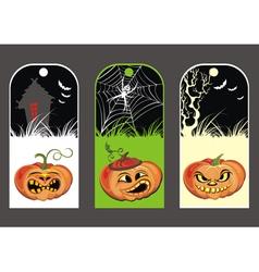 Halloween Pumpkin banners vector image vector image