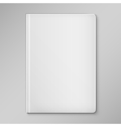 Isolated white blank book cover vector