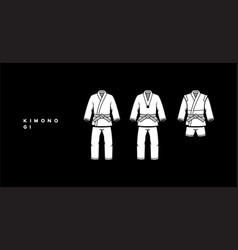 kimono karate vector image vector image