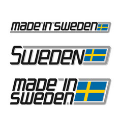 Made in sweden vector