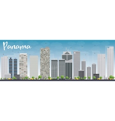 Panama city skyline vector