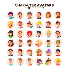 People avatars collection default vector