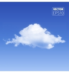 Realistic cloud on blue background vector