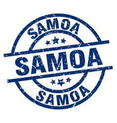Samoa blue round grunge stamp vector