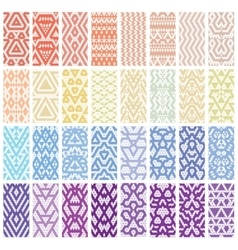 Set of 32 patterns vector image vector image