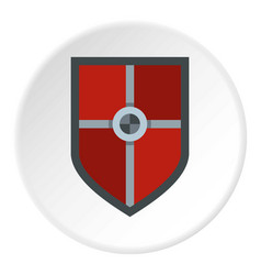 Shield for fight icon circle vector