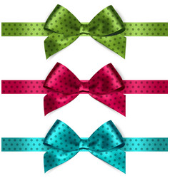 Shiny satin ribbon on white background vector image vector image