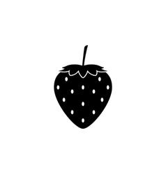 Strawberry icon vector