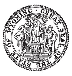 The great seal of the state of wyoming vintage vector