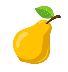 Yellow pear fruit vector